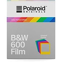 Polaroid Originals 4673 Film Noir et Blanc pour Appareil Polaroid 600 Cadre Coloré