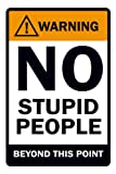 #3: Posterboy 'Warning - No Stupid People' Poster (30.5 cm x 45.7 cm)