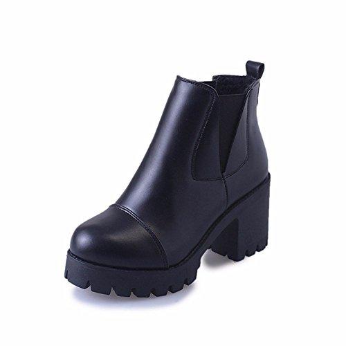 Hoch Tabelle (HOMEE Frauen 'S kurz Boots mit dicker und hoher wasserdichter Tabelle, die warme Winter-Schuhe verdickt,36 Eu,EIN)