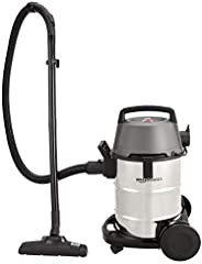 AmazonBasics 1400 W 21L Wet and Dry Vacuum Cleaner with Blower Function and Steel Drum