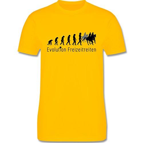 Evolution - Freizeitreiten Ausreiten Reiten Evolution - Herren Premium T-Shirt Gelb