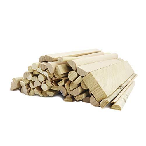 Leña encendedor, 1,5 kg, 20 - 30 cm, dimensiones finas, espacios de trabajo en bruto perfectos para encender el fuego con facilidad, leña fina para arder, chimenea, estufa