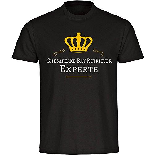 T-Shirt Chesapeake Bay Retriever Experte schwarz Herren Gr. S bis 5XL, Größe:XXL (Retriever-herren-shorts)