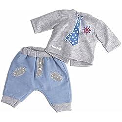 Nenuco Ropita Casual 35cm. Pantalón azul + Pulóver Gris con corbata (Famosa) (700013822)
