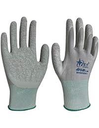 Hongyan Gloves Guantes de látex para protección Laboral Protección para Equipos mecánicos Antideslizante Construcción de nilón