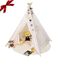 gaeruite Indian Canvas Teepee Tent for Kids Play House