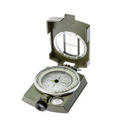 Zdmathe Militär Marschkompass mit Tasche für Camping, Wanderung,Lensatic/Prismatic Sighting High Accuracy Compass