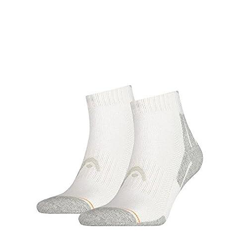 Head Performance - Chaussettes de sport - Lot de 2 - Homme - Blanc (White) - FR: 43-46 (Taille fabricant: 43/46)