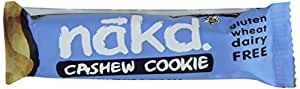 Nakd Cashew Cookie Gluten Free Bar 35 g (Pack of 18)