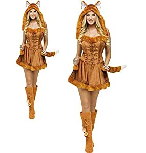 Peluches chat avec queue de renard pour Halloween animal Cosplay fille, robe de fête charming petits vêtements Équipements