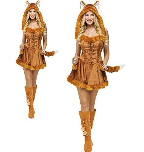 Gorgeous Haltigen Schwanz Katze Mädchen Halloween-Cosplay fox animal Frack charmante kleine Bar Partyausstattung