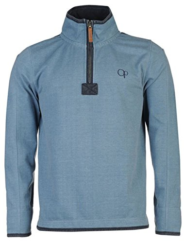 mens-stylish-quarter-zip-pique-sweater-top-small-blue