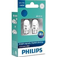PHILIPS W5W T10 4000K LED 12V Warm White Car Interior Bulbs W2,1x9,5d LP 11961ULW4X2 (Twin)