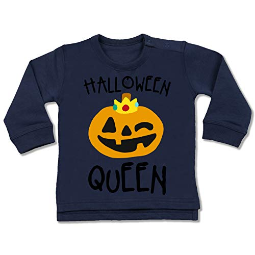Shirtracer Anlässe Baby - Halloween Queen Kostüm - 6-12 Monate - Navy Blau - BZ31 - Baby Pullover