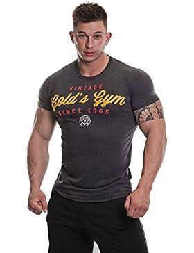Golds Gym Herren Vintage Performance Shirt mit Aufdruck