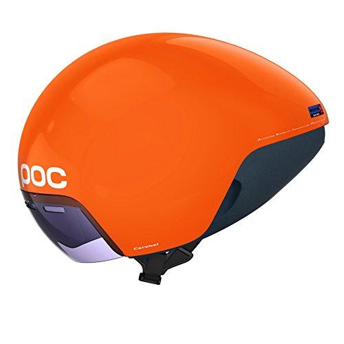 POC Cerebel Raceday - Zink Orange - M - Kompakter aerodynamischer Radhelm