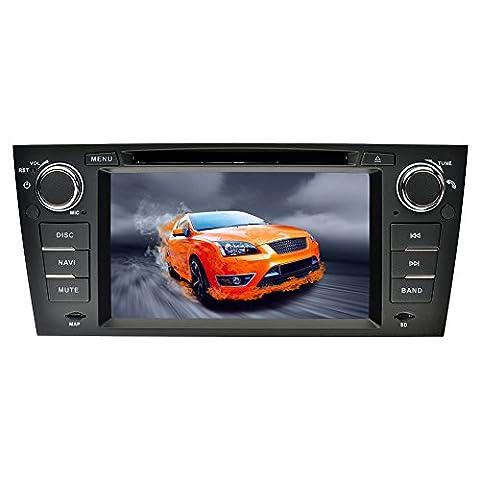 YINUO 7 pouces 1 Din Android 5.1.1 Lollipop Quad Core écran tactile Autoradio Lecteur de DVD GPS Navigation avec Bluetooth pour BMW 3 Series 2006-2011 BMW E90/ 2006-2011 BMW E91/ 2006-2011 BMW E92/ 2006-2011 BMW E93
