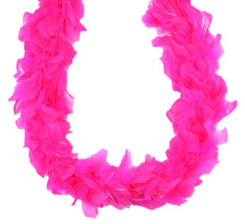 Touch of Nature 36705 Mini-Boa, Hot Pink mit Lurex - Hot Pink Boa