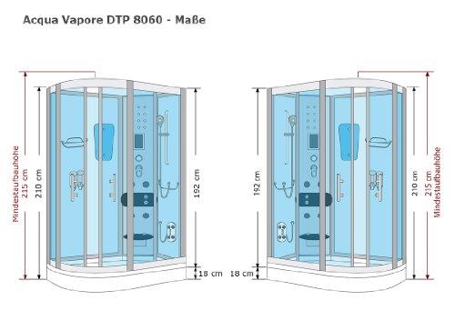AcquaVapore DTP8060-7000R Dusche Duschtempel Komplett Duschkabine 80×120 - 6