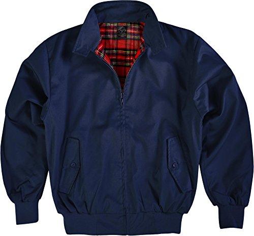 GearUp Original Harrington Jacke English Style in 12 verschiedenen Designs wählbar Farbe Navy Größe 3XL