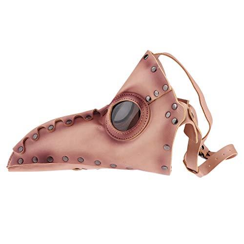 Baoblaze Herren Schnabelmaske venezianisch Pestmaske Doktor Arzt Kopfmaske Lange Schnabel Maske Steampunk Gothic Cosplay ()