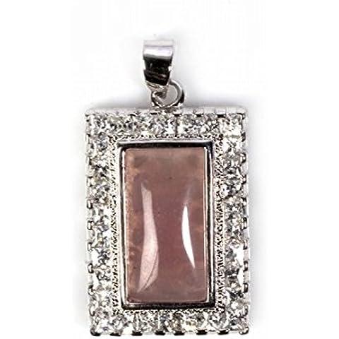 925 Ciondolo Sterling Silver Lavanda colore giada