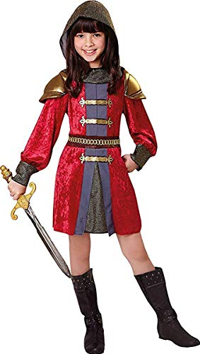 Onlyglobal Mädchen Kostüm Party Queen Kreuzfahrer Königsblau Mittelalter Ritter Prinzessin Kostüm - Multi, Large 134cm - 146cm