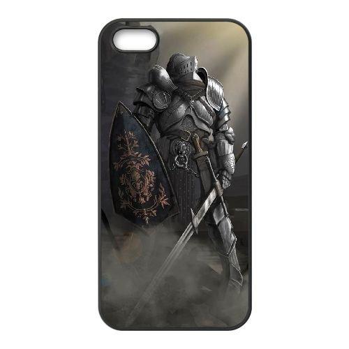 Dark Souls coque iPhone 5 5S Housse téléphone Noir de couverture de cas coque EBDXJKNBO15558