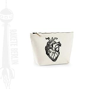 Kosmetiktasche (M)' Herz anatomisch ' Baumwoll Canvas