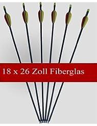 18 Flèches / Longueur: 26 pouces / Fabriqué à partir de fibre de verre