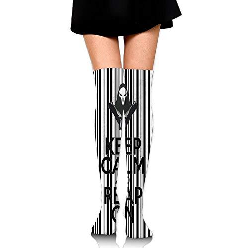 ouyjian 60 cm Lange Kniehohe Damenstrümpfe bleiben ruhig und ziehen Lange Röhrensocken an