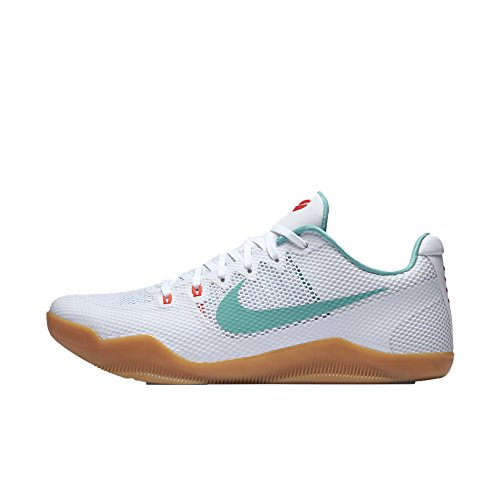 Nike Kobe Xi, Chaussures de Sport-Basketball Homme, 44 EU Blanco (White / Washed Teal-Bright Crimson)