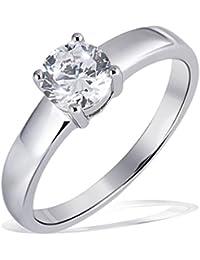 Goldmaid Damen-Ring 925 Sterlingsilber ein großer Zirkonia