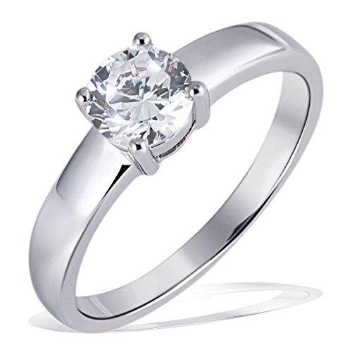 Goldmaid Damen-Ring Silber 925 1 grosser Zirkonia Solitär Grösse 54