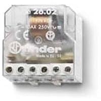 Finder serie 26 - Rele encastrado interruptor bipolar 2 contacto abierto 230vac