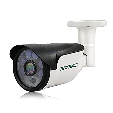 SV3C Security Camera, 1080P POE CCTV Camera Outdoor with 2.8MM-12MM Varifocal Lens, IP66 Waterproof, Motion Detection, 20Meter Night Vision