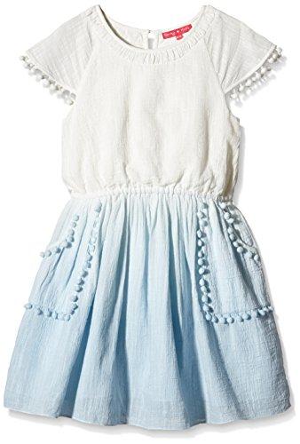 Derhy MARCELINE ROBE-Vestito  Bambina    Bleu (Blanc/Bleu) 12 anni