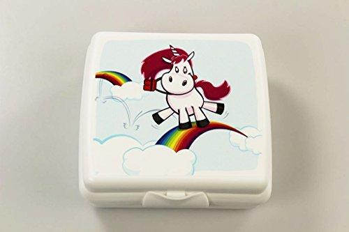 TUPPERWARE To Go Sandwich-Box weiß Einhorn Pausenbox Brotbox Schule Brotbehälter