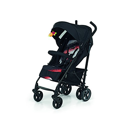 Foppapedretti Hurra Fantasy - Silla de paseo ligera y compacta, color negro