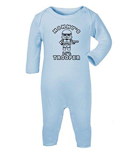 Green Turtle T-Shirts Mommy's Lil Trooper - Geschenk für Sci-fi Fans Baby Strampler Strampelanzug 6-12 Monate (67/76) Hellblau (Clone Trooper Outfit)