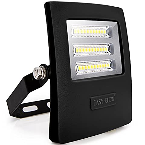 [Lifetime Guarantee] 20W LED Outdoor Floodlight with Advanced SMD2835 LED Chip - High Quality and Energy Efficient - 200W Halogen Bulb Equivalent - Wall Washer Flood Light - Suitable for Billboards - Factories - Gardens - Workspaces - Security Lights - Floodlights - Waterproof IP65 - 2000LM Daylight White - Durable Aluminium Body - 1-Meter Power Cord Included (Plug-Less)