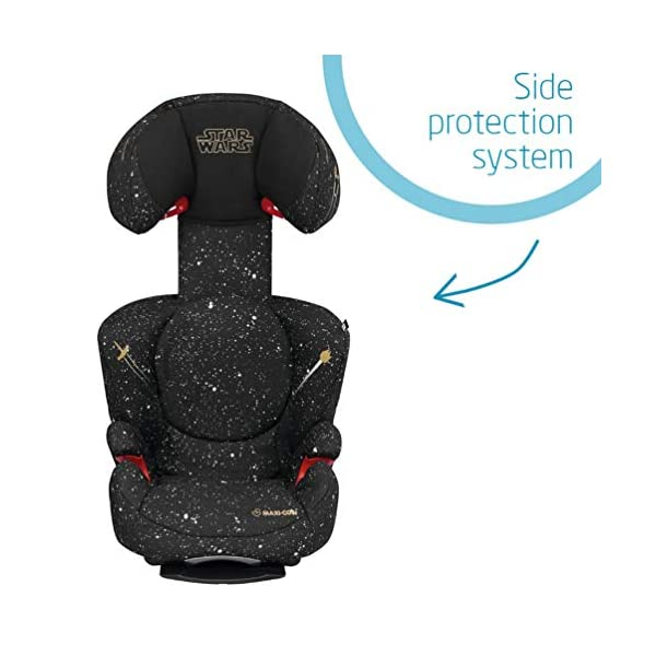 Maxi-Cosi Rodi AirProtect Child Car Seat, Lightweight Highback Booster, 3.5-12 Years, 15-36 kg, Star Wars Maxi-Cosi Child car seat, suitable from 3.5 to 12 years (15-36 kg) Easily install this safe car seat with a three point seat belt and attach the anchorage point in the head rest through your cars head rest Patented AirProtect technology in headrest reduces the risk of head and neck injuries up to 20 percent 7
