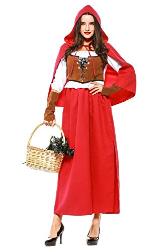 Kostüm Damen Rotkäppchenkostüm Little Red Riding Hood Kinderkostüm ()