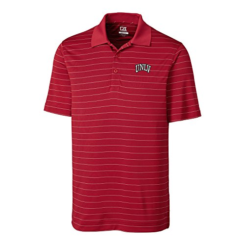 Cutter & Buck NCAA Unlv Rebels  Men's CB Dry Tec Franklin Stripe Polo,Cardinal Red,X-Large