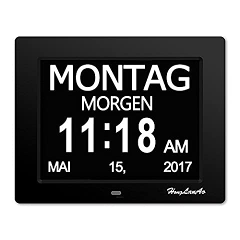 Digitaler Kalender Tag Uhr mit Nicht Abkürzungen Tag & Monat