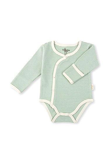 Tadpoles biologischer baumwoll langarm kimono Onsesie Layette 6-12 Monate – grün (Mädchen-schlafanzug Braune)