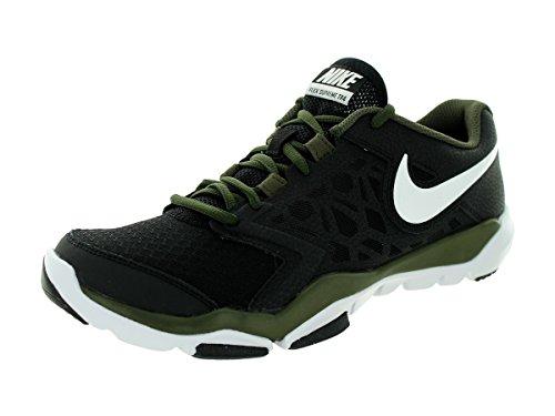 Nike Flex Supreme Tr 4, Chaussures de Sport Homme Noir / Blanc / Gris (Black / White-Cargo Khaki)
