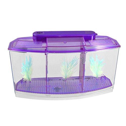TOOGOO(R) Acuario de peces de escritorio mini lampara LED con bateria de...