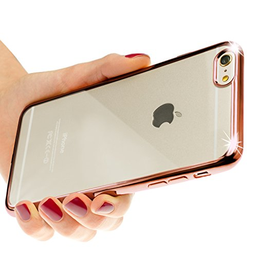 Protection de bord coloré Coque en silicone case Coque Cover bumper Cover Smartphone rose