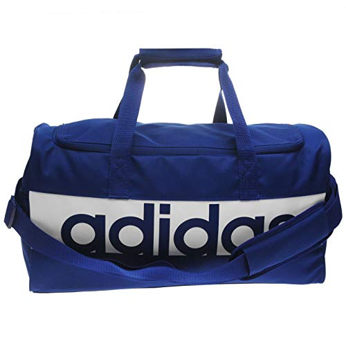 adidas Lin per TB M, Borsa Sportiva Unisex Adulto, Mystery Ink F17/Bianco/Bianco, 22 cm x 57 cm x 30 cm